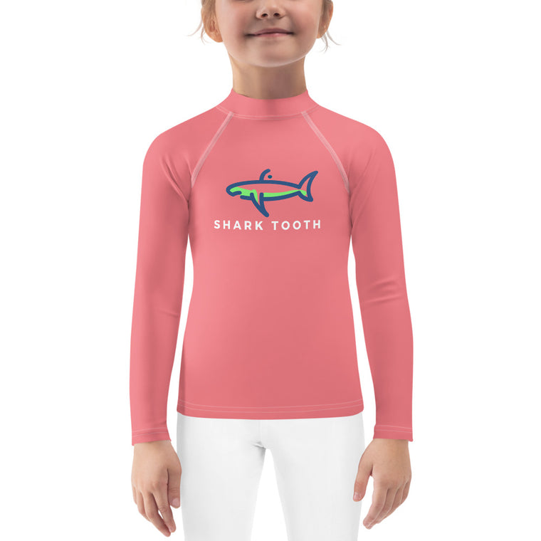 Shark Tooth Kids Rash Guard