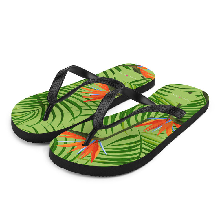 Island Shore Birds of Paradise Flip-Flops