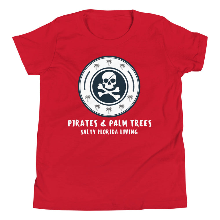 Pirates & Palm Trees Youth Short Sleeve T-Shirt