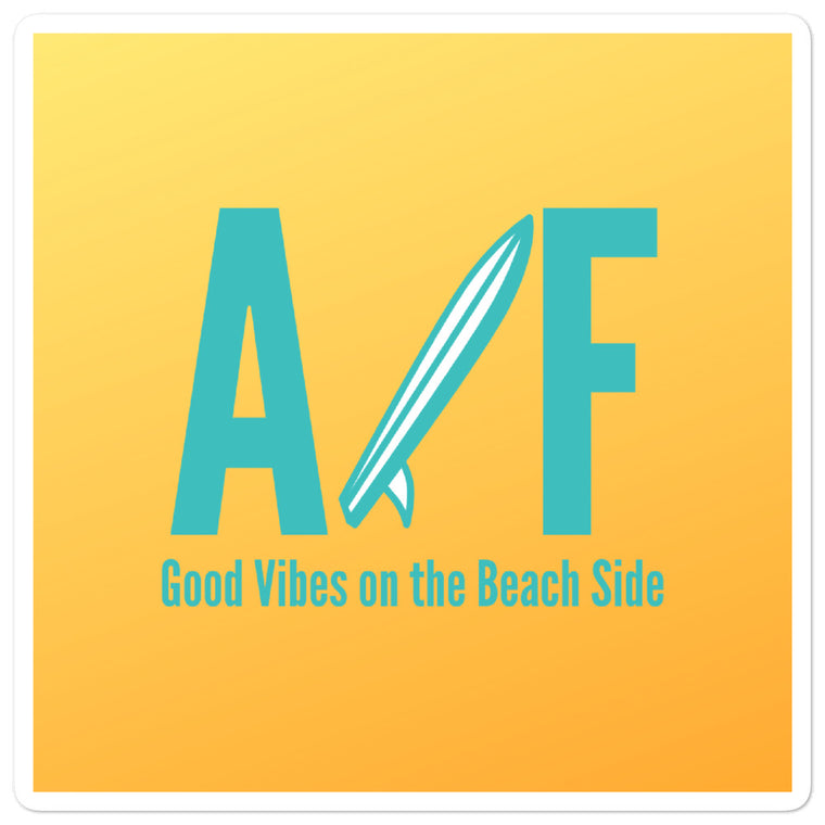 ALL FL Good Vibes on the Beach Side Stickers