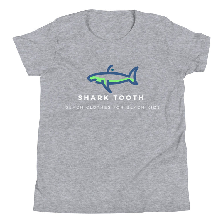 Shark Tooth Beach Youth Short Sleeve T-Shirt