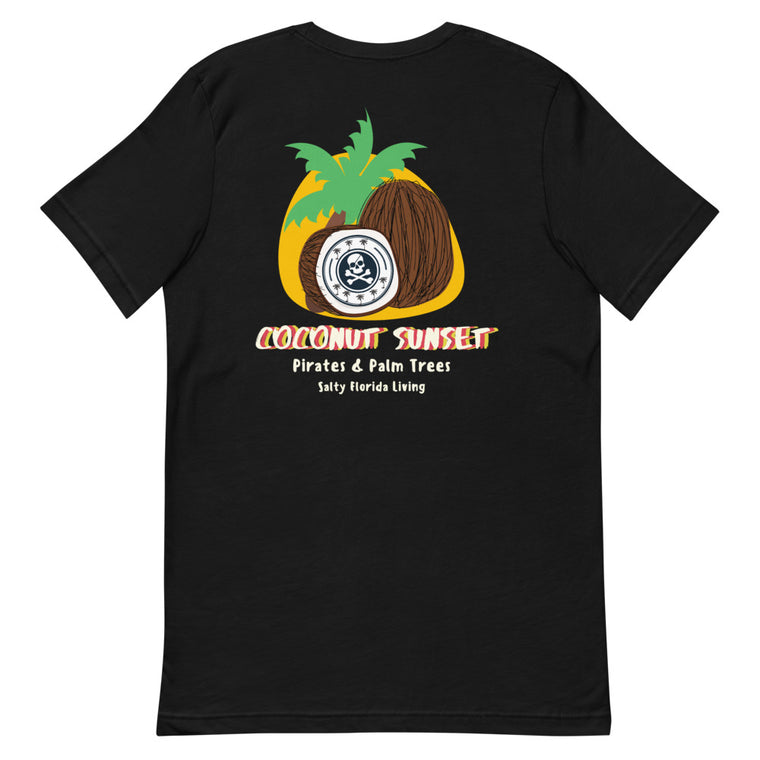 Pirates & Palm Trees Coconut Sunset Short-Sleeve T-Shirt