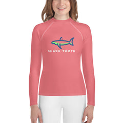 Shark Tooth Sanibel Pink Youth Rash Guard