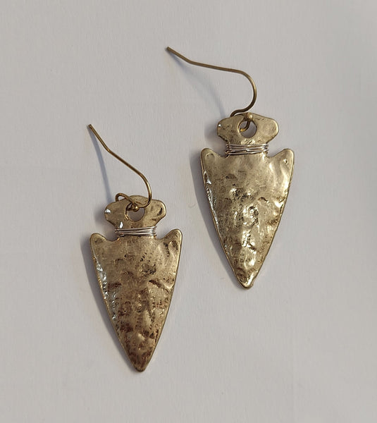 Hammered  Spearhead Earring
