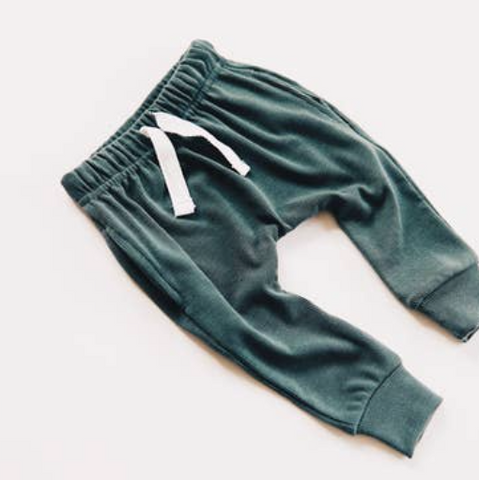 Deap Sea Ribbed Pocket Harem Joggers