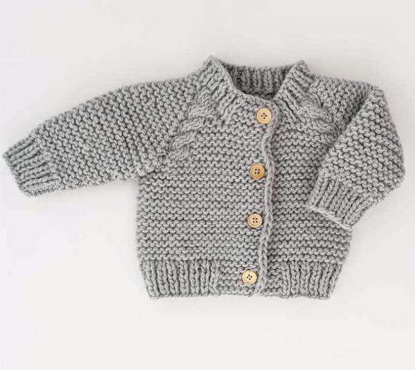 Grey Knit Sweater  Cardigan