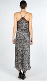 Love You Forever Snake  Print Satin Lace Maxi Dress