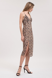 Loving You Forever Snake Print Front Slit Midi Dress
