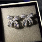 Ribbon bowknot stud earrings