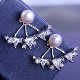 Triangle and pearl Ear Jacket