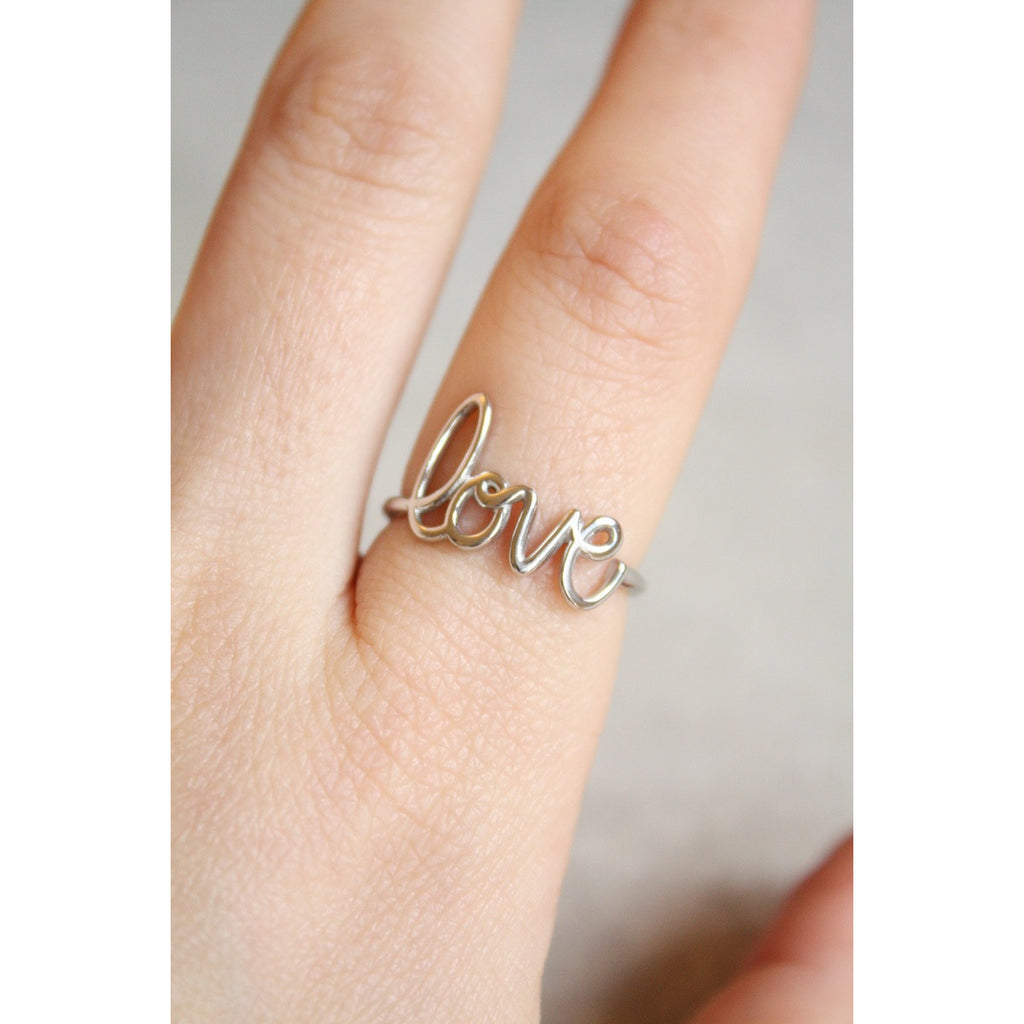 925 Sterling Silver Love Ring, Made in Italy - Susy de Marchi Jewelry