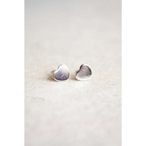Tiny Heart stud earrings sterling silver