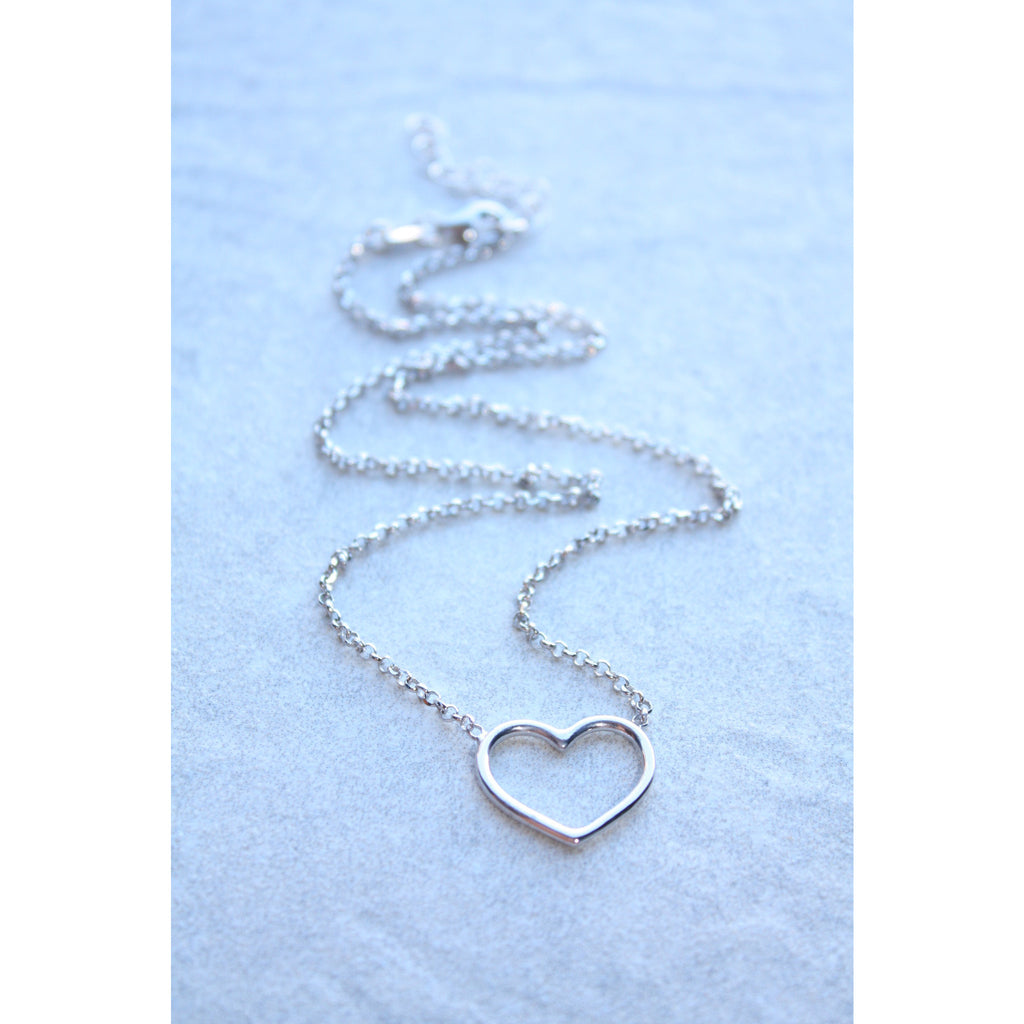I heart you sterling silver heart necklace - Susy de Marchi Jewelry