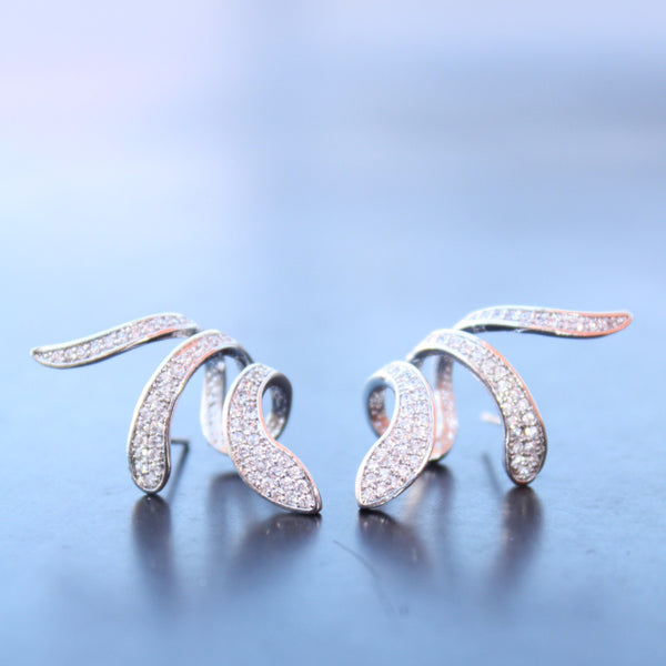 Sterling silver 925 earrings Snake