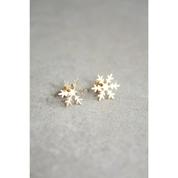 Gold Snowflake 925 sterling silver earrings - Susy de Marchi Jewelry
