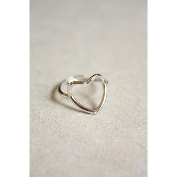 Open Heart Ring Sterling silver 925 Made in Italy - Susy de Marchi Jewelry