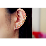Gold Ear Climber, Stars Ear Climber Gold, Gold Ear - Susy de Marchi Jewelry