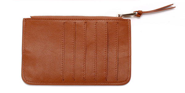 'Drop-In' Leather Pouch Wallet