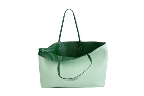 Reversible Travel Tote - Emerald