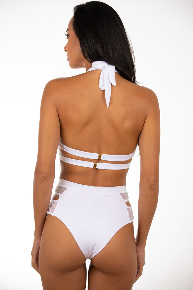 Irene's Paradise-White mesh two piece
