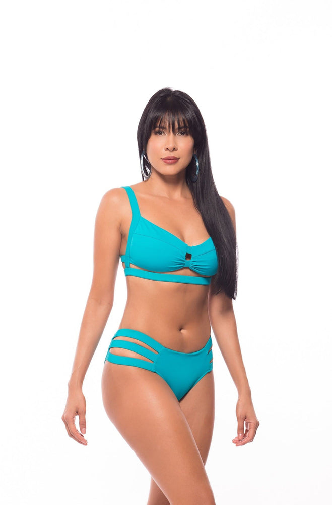 Butterfly- Aqua blue two piece