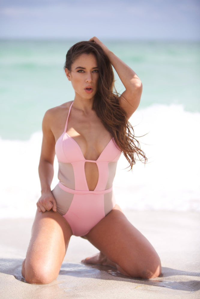 Flamingo - Pink and Nude - One piece