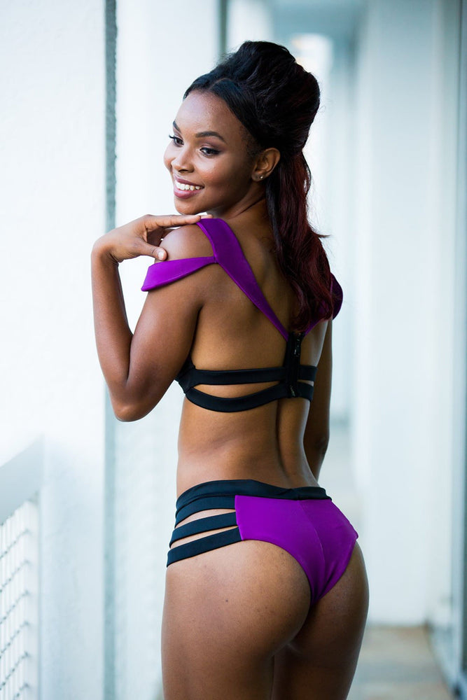 STAR -Black and Purple - Two piece
