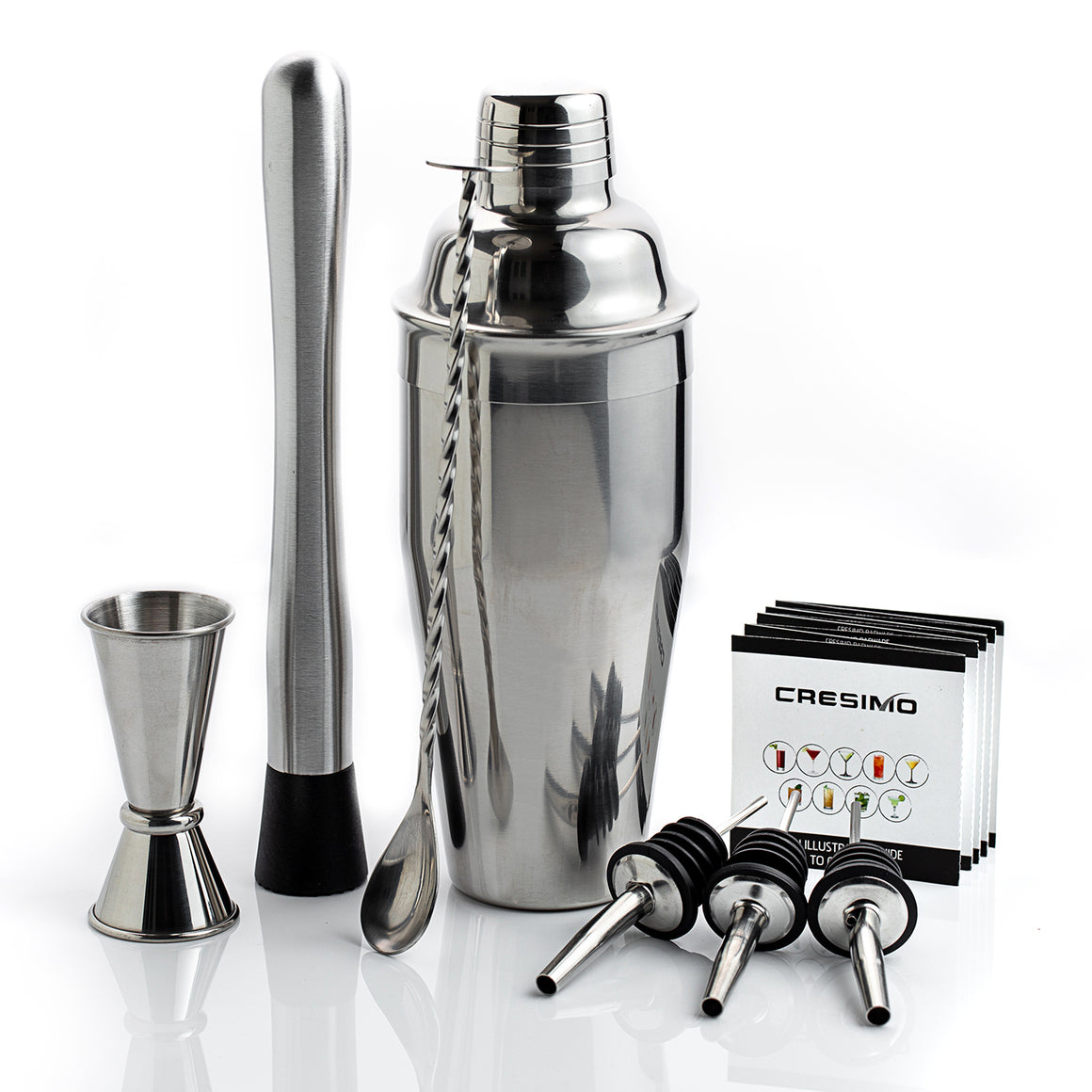 24 Ounce Cocktail Shaker Bar Set with Accessories