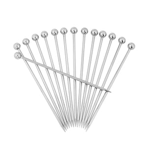 4.3 Inch Stainless Steel Cocktail Picks (Set of 14)