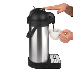 101 Oz (3L) Airpot Thermal Coffee Carafe with Drip Tray & Cleaning Brush