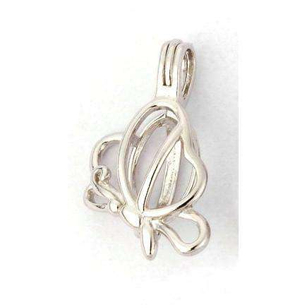 Silver plated cage pendants sirens sparkles butterfly silver plated pendant aloadofball Choice Image
