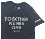 Short sleeve t-shirt with Together We Are One in White