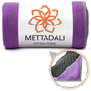 Anchor-Fit Yoga Towel - Purple - Mettadali Yoga