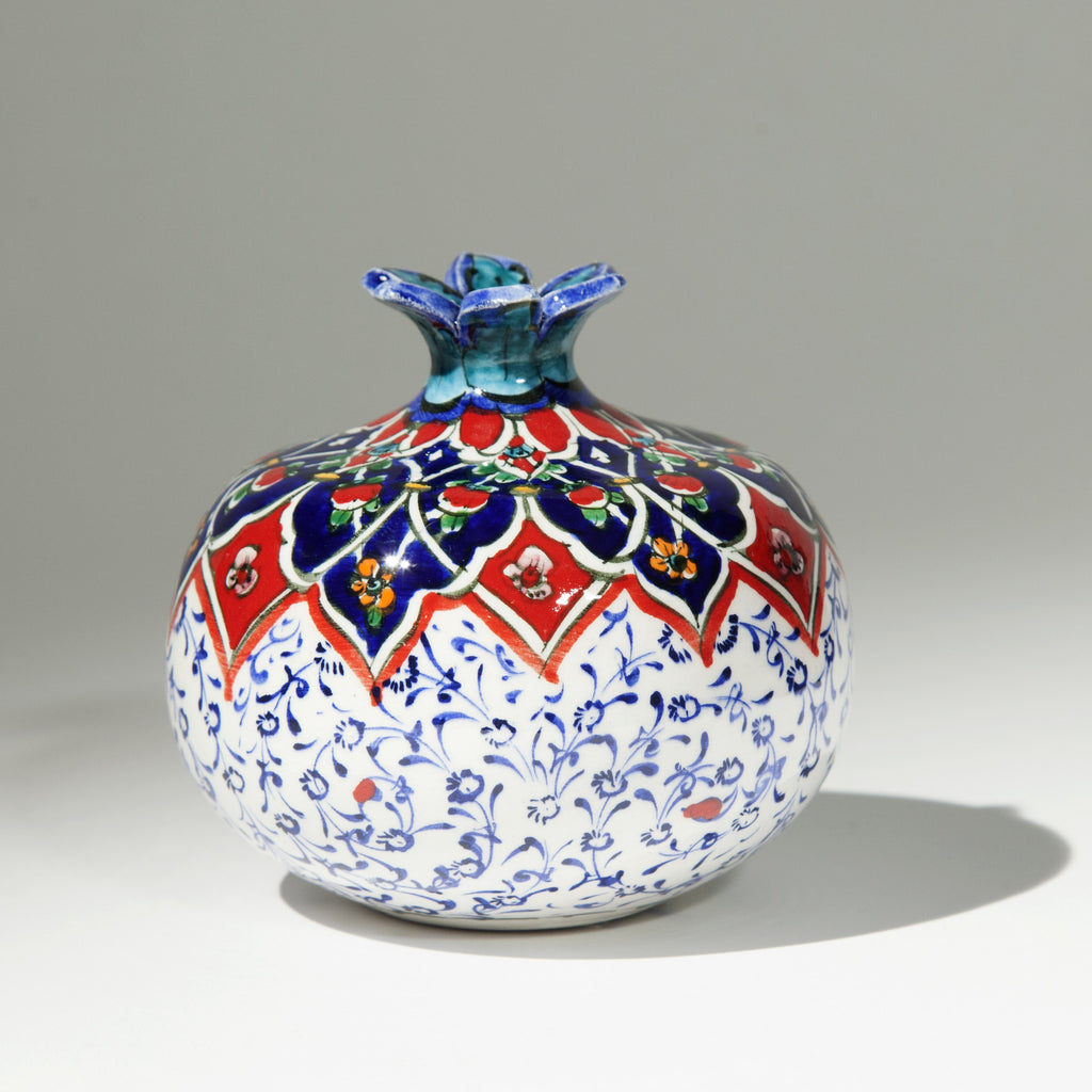 Medium Ceramic Pomegranate - Hand Painted