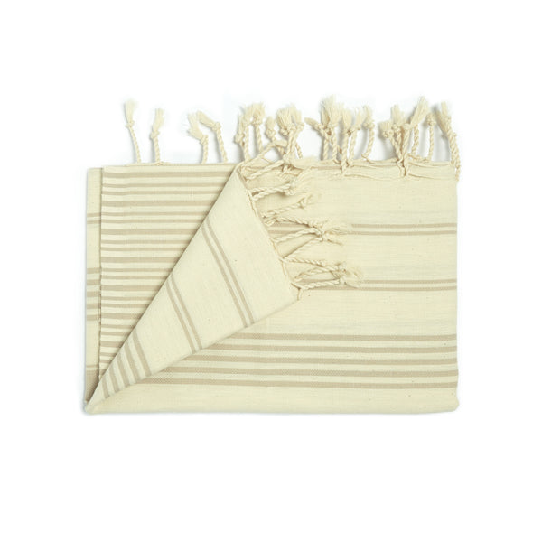 Galata Towel - Beige Stripes