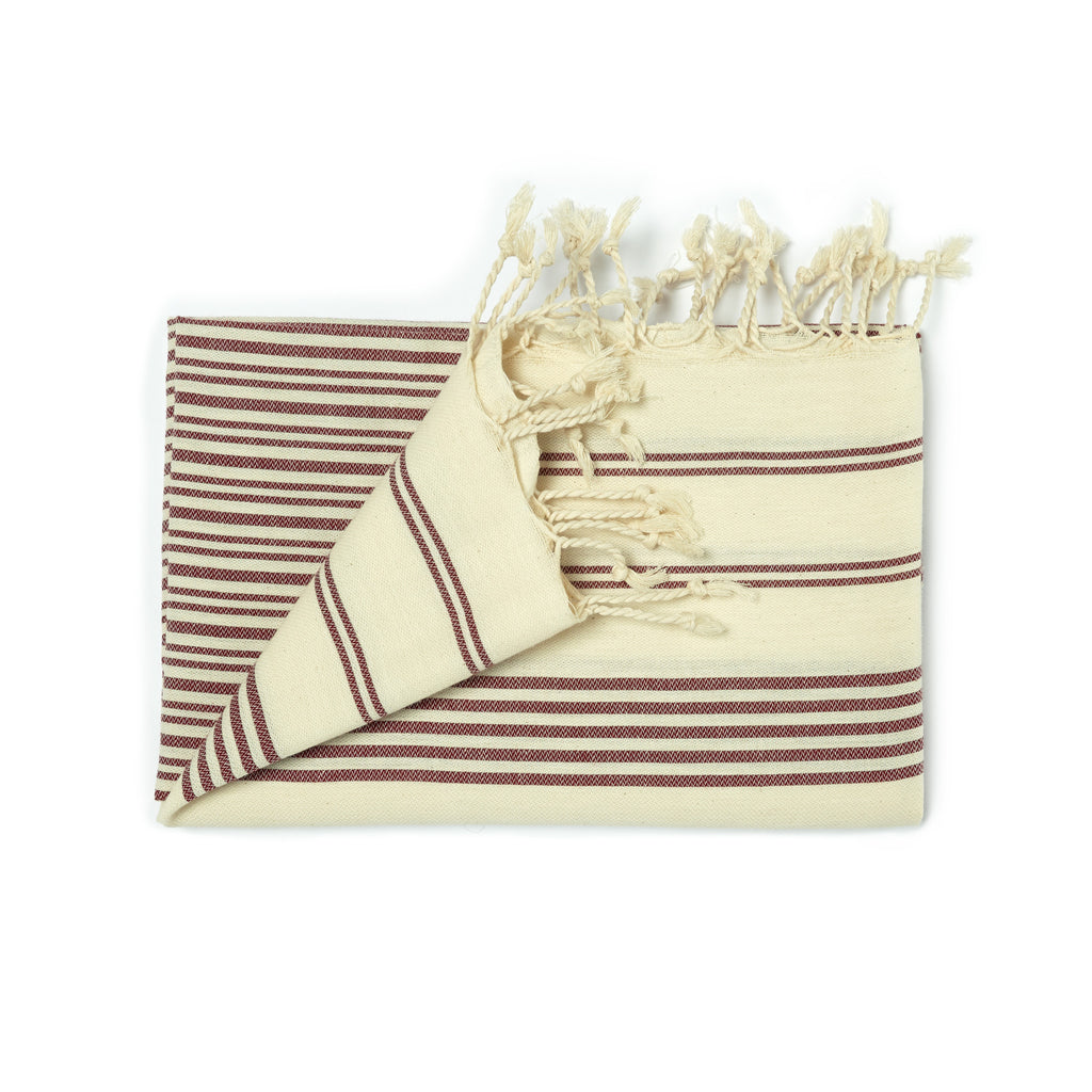 Galata Towel - Burgundy