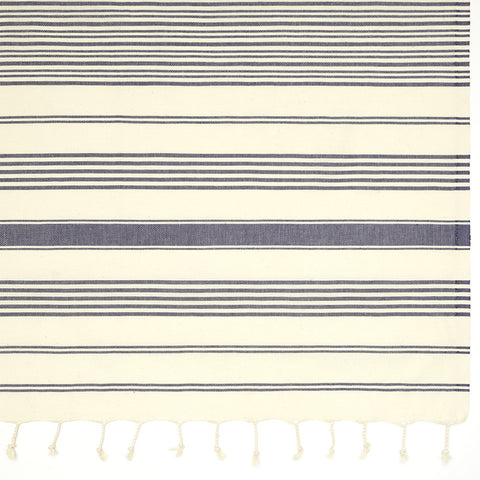 Galata Towel - Navy Stripes