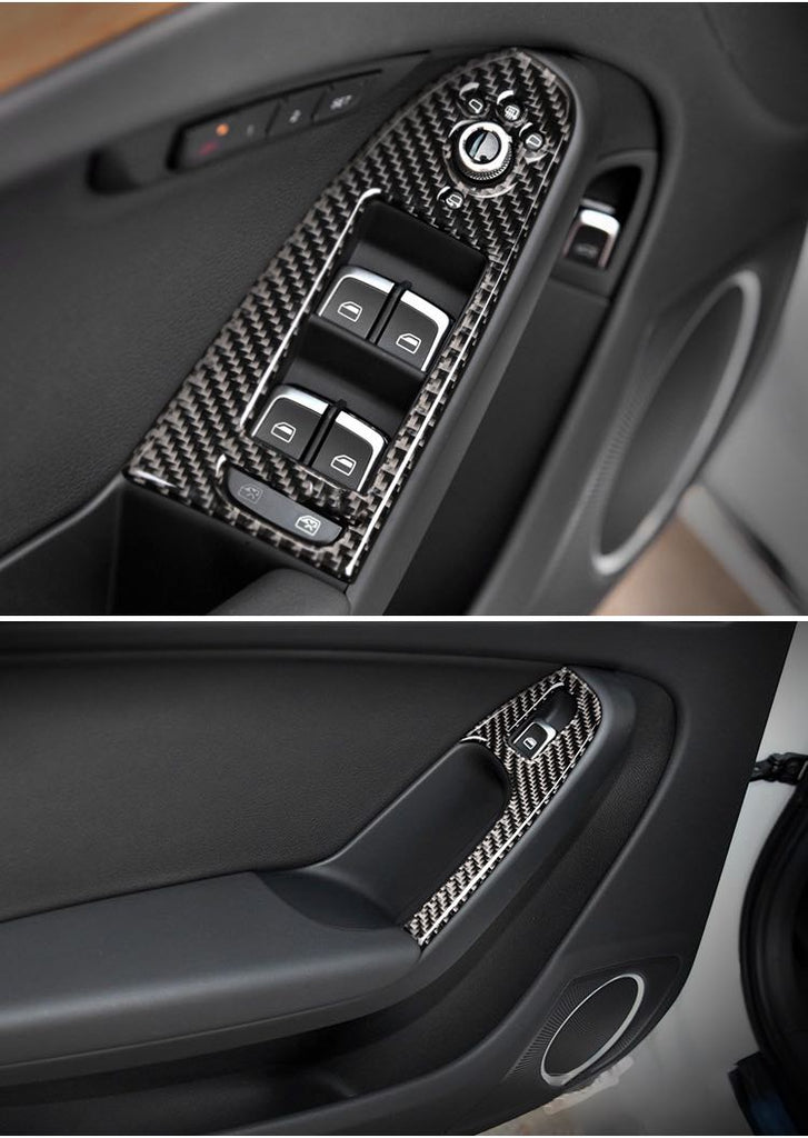 Carbon fiber trim for side and center panels for Audi A4/S4 and A5/S5, Q5