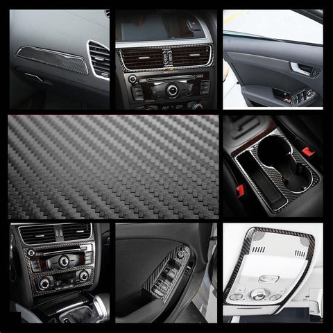 Carbon fiber trim for passenger side panel for A4 A5 Q5