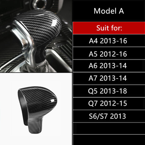Carbon fiber trim for gear shifter for Audi A3/S3, A4, A5, A6, A7, Q5, and Q7