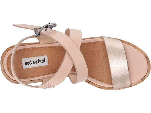 Not Rated Petal Wedge in Blush - Rural Haze