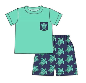 Turtle Pocket Tee And Shorts