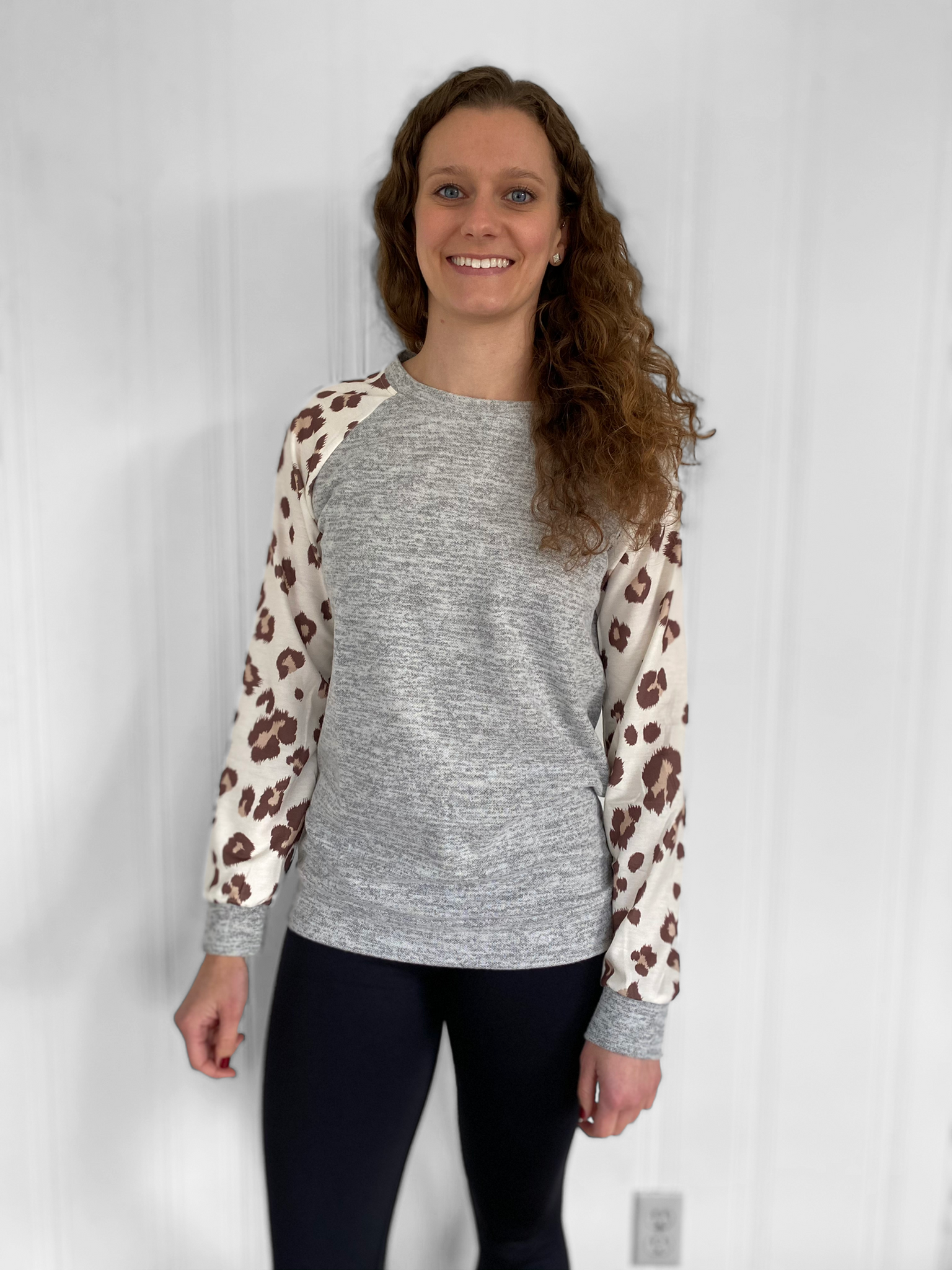 Leopard Long Sleeve - Gray