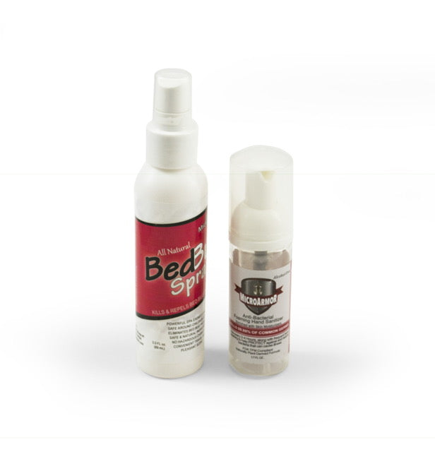 3 oz Bed Bug Spray & 1.7 oz Hand Sanitizer
