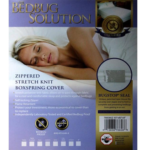 Bedbug Solution Stretch Knit Box Spring Cover