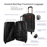 2-Pc ThermalStrike Bed Bug Proof Hardside Spinner Luggage Set