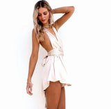 Stain Silk Oyster - Multiway Playsuit