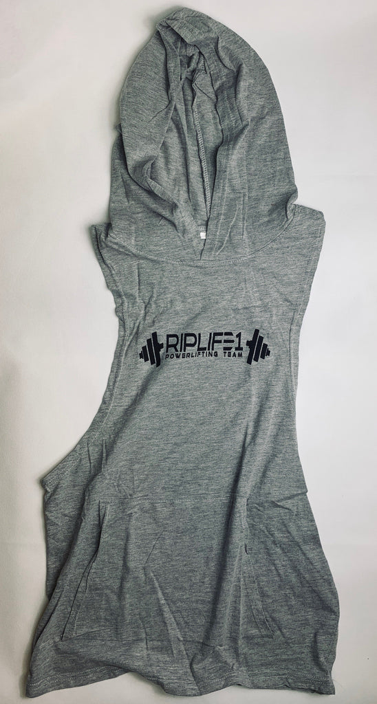 RIPLIFE1 Powerlifting Sleeveless Hoodie T-shirt - RIPLIFE1