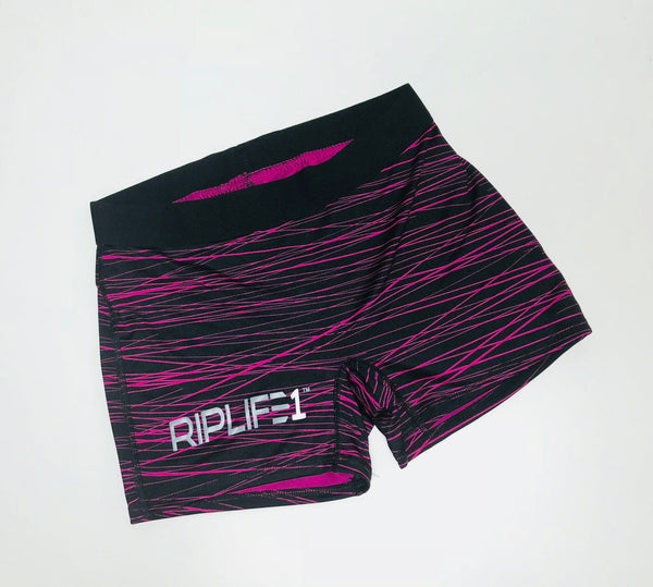 Women's Workout Shorts - Black and Pink - RIPLIFE1