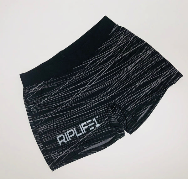 Women's Workout Shorts - Black and Grey - RIPLIFE1